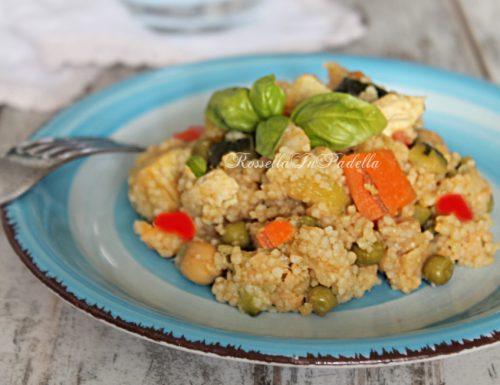 Cous cous di pollo e verdure / piatto light