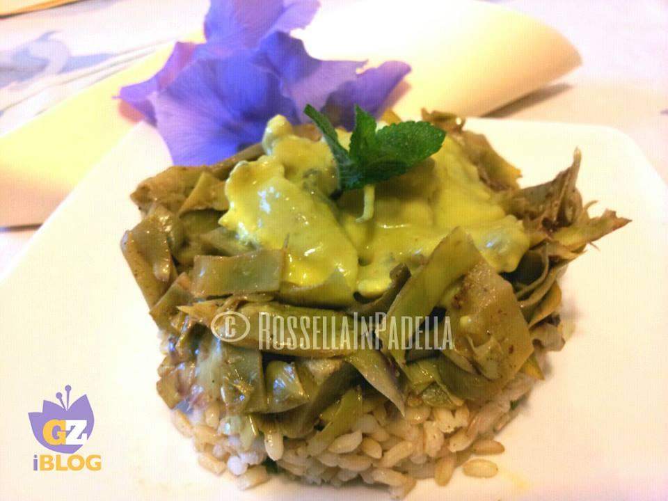 Pollo all curry con carciofi teneri e riso integraleultGZ