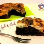 Torta al cioccolato con meringa francese