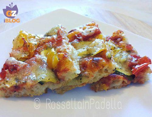 Pizza morbida alle verdure