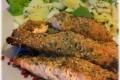 Salmone marinato in crosta di semi