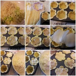 mini quiches ai porri, patate e prosciutto cottoPROC