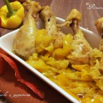 Pollo al curry con mele e peperoni