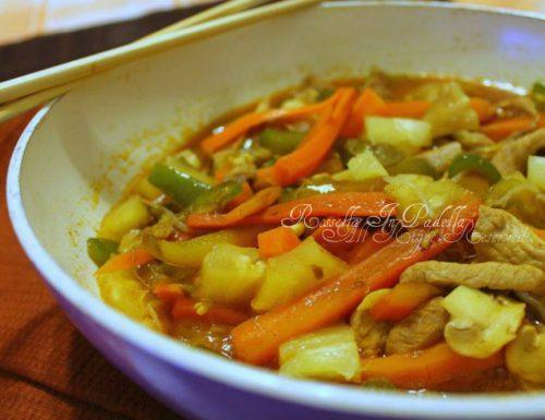 Maiale in agrodolce, ricetta asiatica con wok