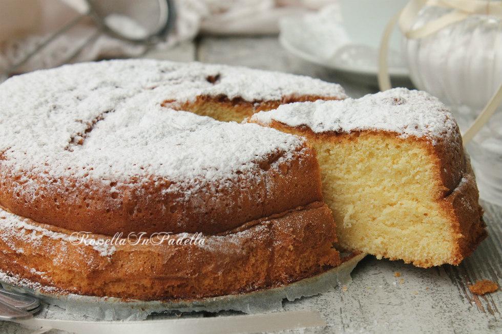 Torta veloce : torta morbida in 5 minuti   Rossella In Padella