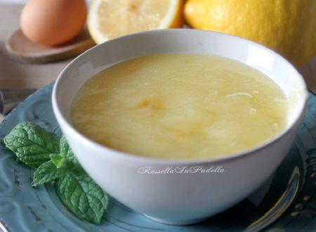 Crema al limone leggera, senza latte
