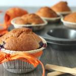 Muffin ai mirtilli senza burro, con yogurt e farina di riso