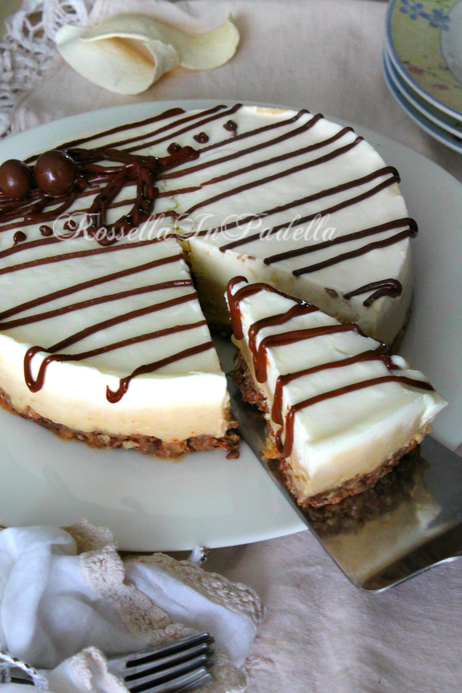 Torta Fredda Al Caffè Base Wafer Con Mascarpone E Nutella