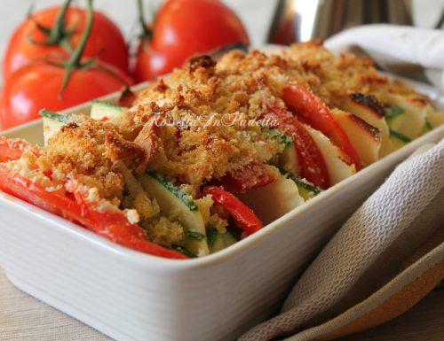Gratin di verdure con ricotta salata