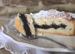 Crostata sbriciolata con crema mousse al cioccolato e mascarpone
