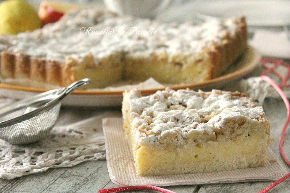 Préférence Sbriciolata con crema pasticcera, mele e mandorle | RossellaInPadella HH41