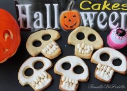 Teschi di halloween, biscotti con ghiaccia reale