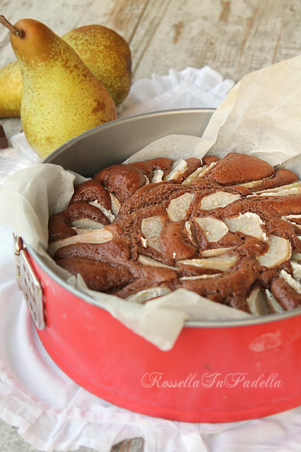 Torta pere cioccolato e mascarpone come sopra ad una - Bagno di cioccolato ...