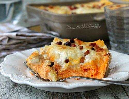 Lasagne con zucca, mascarpone e speck