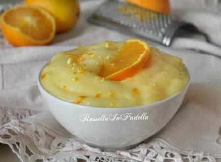 Crema all'arancia per farcire dolci