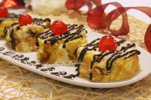 Girelle di panettone con crema di ricotta e cioccolato