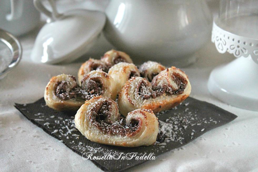 Ventaglietti del goloso frettoloso, con cocco e nutella