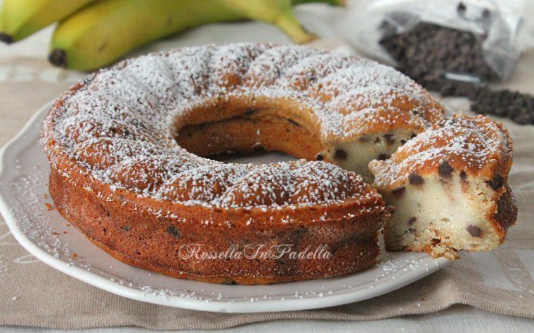 Ciambella banana e cioccolato