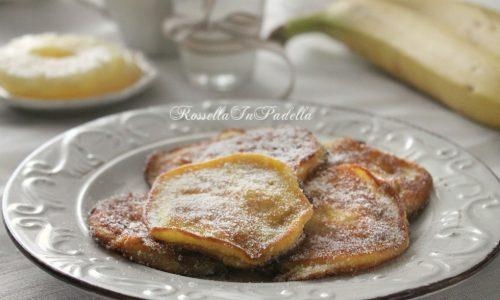 Frittelle di banana e ananas
