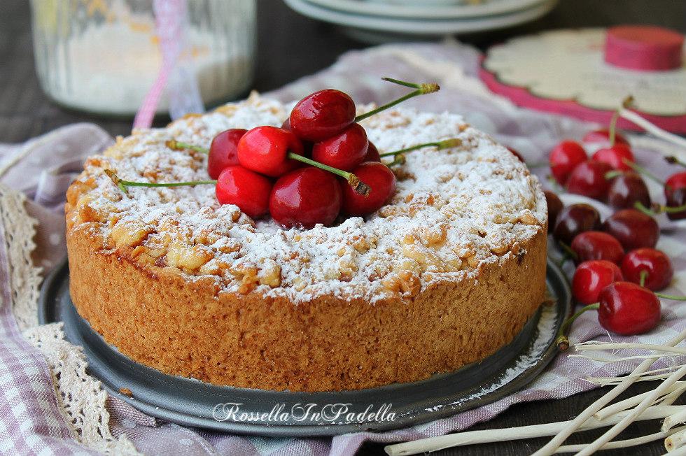 Cherry vanilla pie-sbriciolata alle ciliegie e crema vaniglia