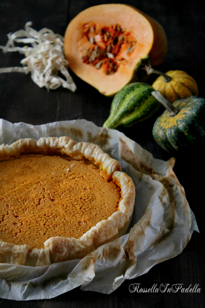 Pumpkin pie, torta alla zucca con mascarpone