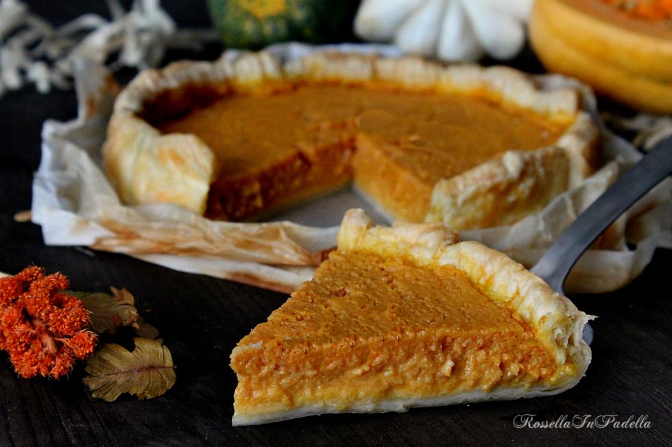 Pumpkin pie, torta alla zucca americana|RossellaInPadella