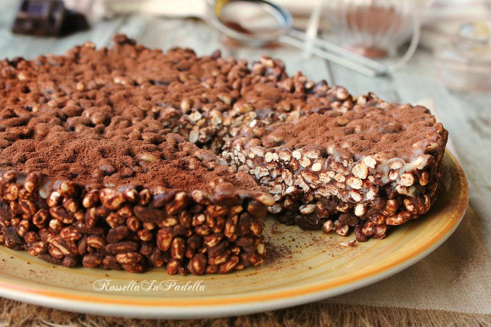 Torta di riso soffiato e cioccolato