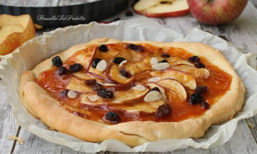Pizza dolce alle mele