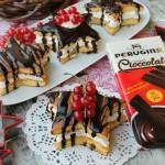 Stelle al mascarpone glassate al cioccolato