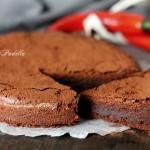 Torta pepper ciok, al cioccolato fondente e peperoncino