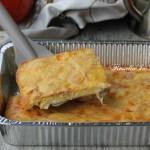 Frittata al forno farcita con prosciutto e formaggio