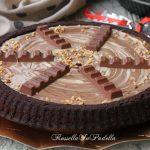 Torta fondente con barrette di cioccolato