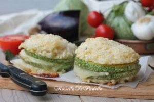 Sandwich di riso e zucchine al forno