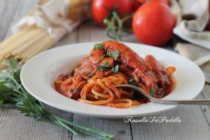 Spaghetti con sugo di gamberi