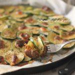Zucchine saporite, ricetta facile e veloce