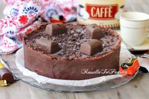 Torta fredda al cioccolato e caffè con pocket coffee