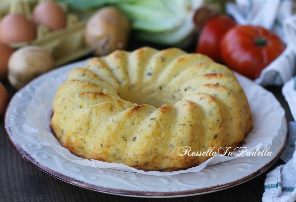 Torta con fiocchi di patate in busta