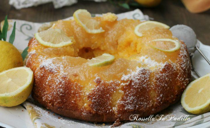 Ciambella al limone con marmellata di limoni