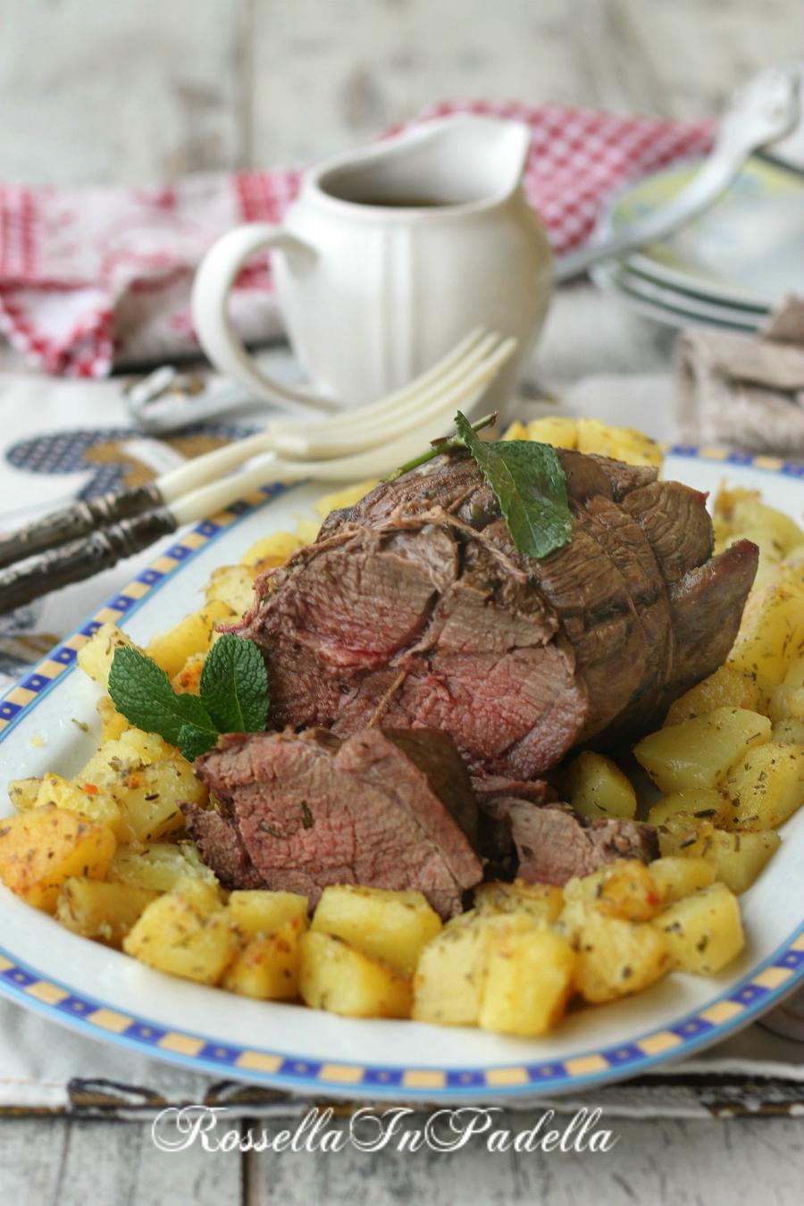 Arrosto di manzo al forno ricetta cucina tradizionale - Forno tradizionale microonde ...