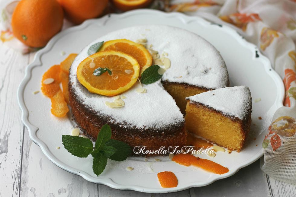 Torta all'arancia e mandorle - con marmellata nell'impasto