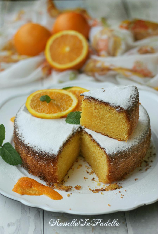 Torta all'arancia e mandorle - soffice e deliziosa