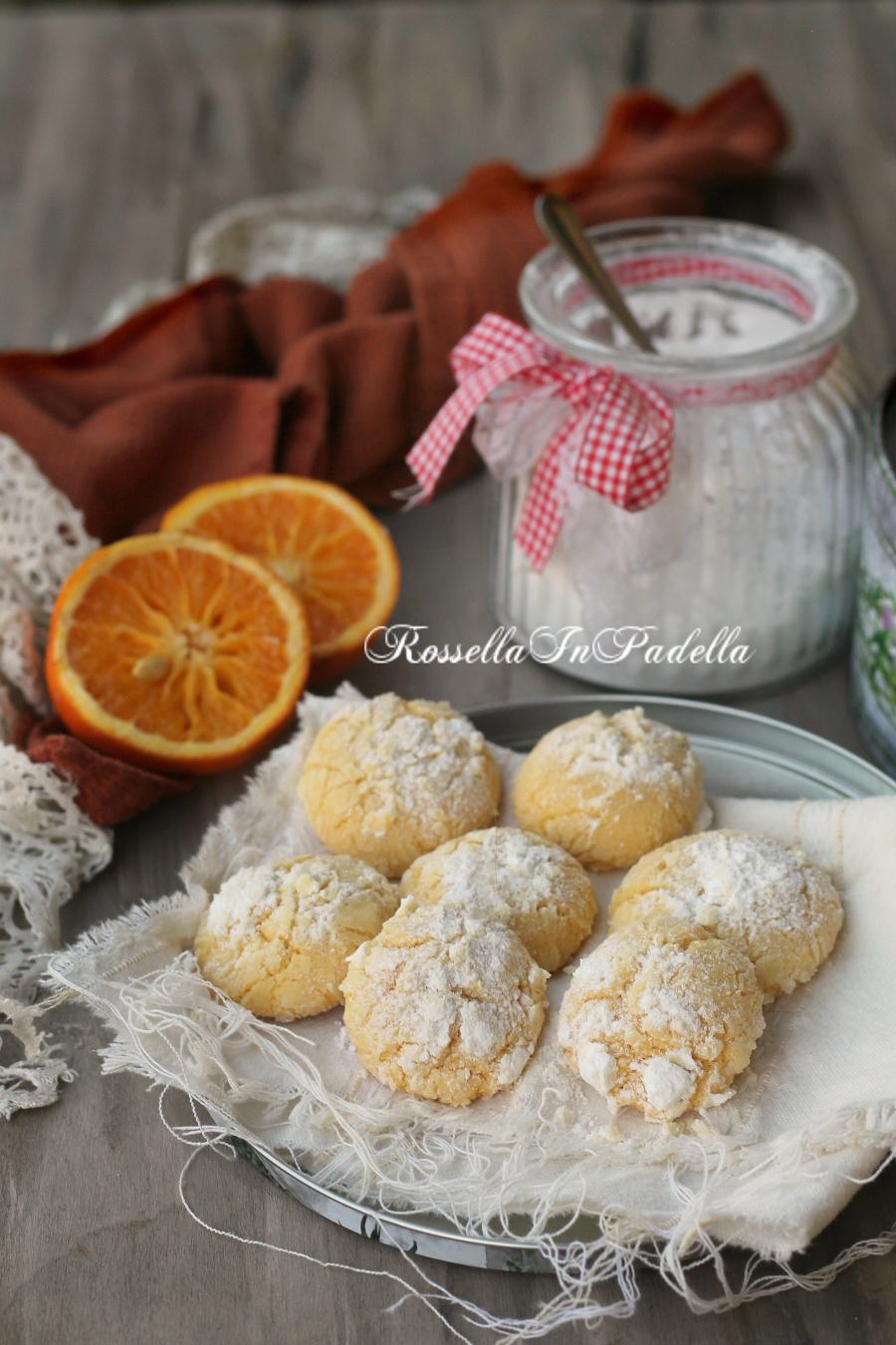 Biscotti all'arancia – orange crackles cookies