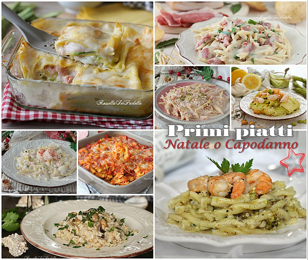 Primi piatti per natale o capodanno tutti facili e gustosi for Primi piatti facili