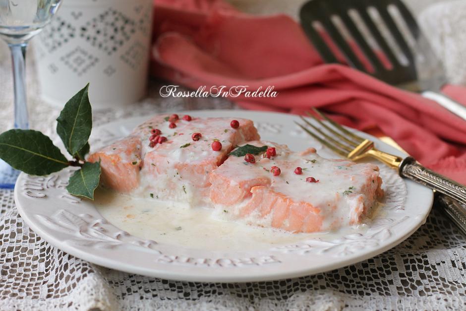 Salmone alla panna, ricetta secondo piatto con salmone