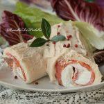 Tronchetto salato con salmone e crema di tonno