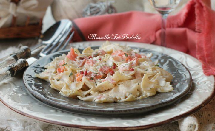 Ricetta pasta al salmone, primo piatto cremoso