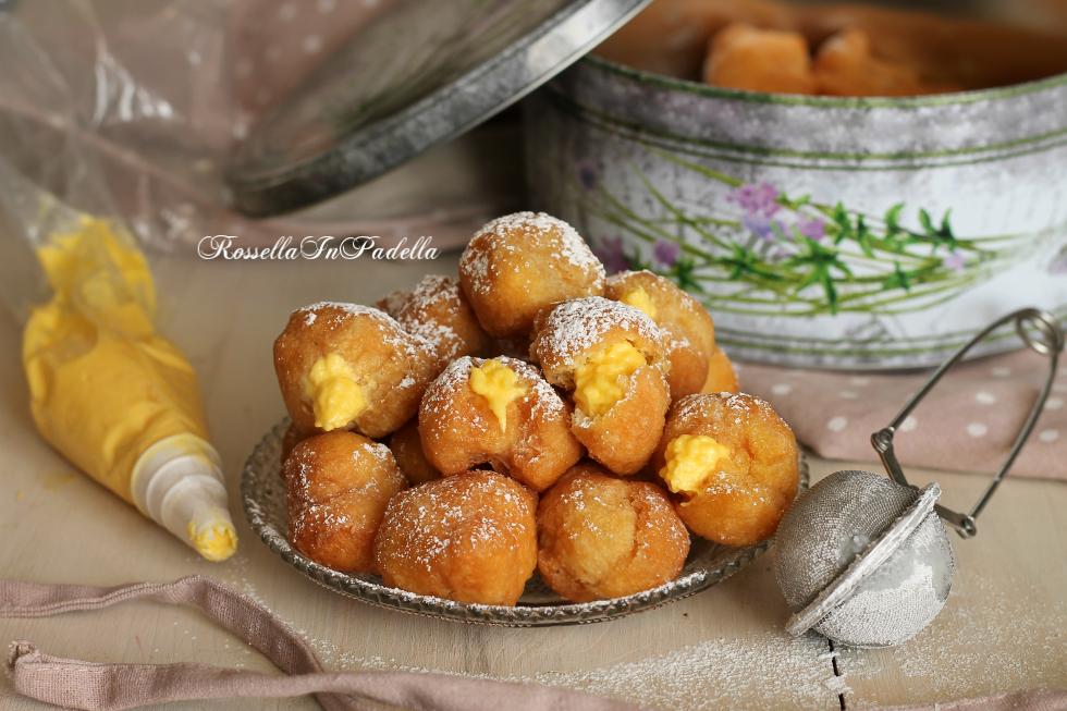 Frittelle alla crema, ricette di carnevale