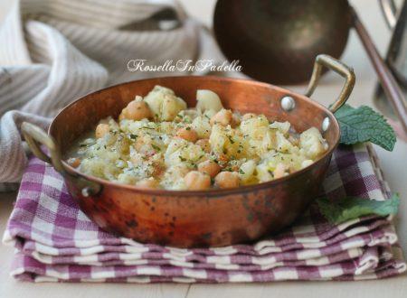 Zuppa di ceci e cavolfiore, caldo conforto di stagione