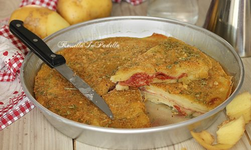 Focaccia di patate veloce, senza lievito senza lievitazione