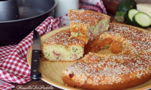 Torta 7 vasetti salata, con zucchine e speck